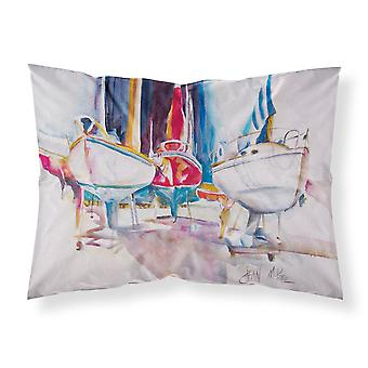 Sailboats in Dry Dock Fabric Standard Pillowcase