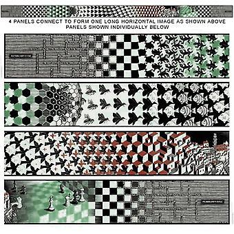 Metamorphosis [4 separate panels] Poster Print by MC Escher (41 x 9)