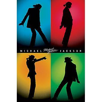 Michael Jackson - siluetas cartel Poster Print