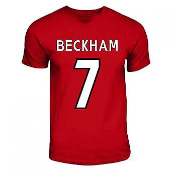David Beckham Manchester United Hero T-shirt (red)