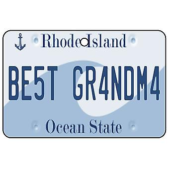 Rhode Island - Best Grandma License Plate Car Air Freshener