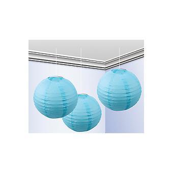 Strona dobrodziejstw zestaw 3 światła latarni ozdoba niebieski 25 cm