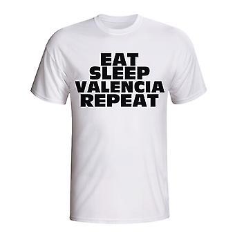 Ешьте сна футболку повторить Валенсия (белый)
