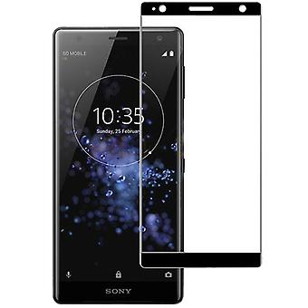 3D premium 0.3 mm H9 tempered glass black film for Sony Xperia XZ2 protection cover new