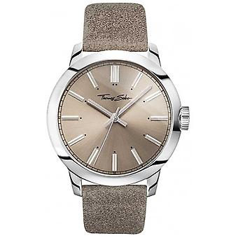 Thomas Sabo Mens Rebel At Heart Grey Leather Strap Grey Dial WA0313-273-214-46