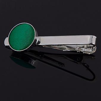 Prendedor de gravata de esmeralda verde planície