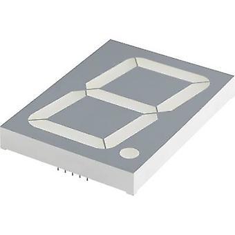 Kingbright sju-segmentet Visa grön 100 mm 8 V, 4 V No. siffror: 1 SA40-19SGWA