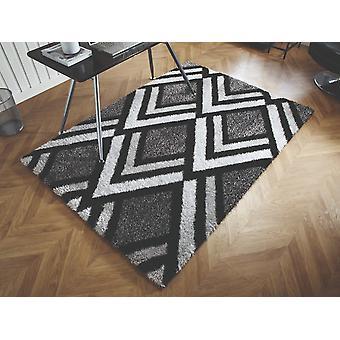 Velours Bijoux Rectangle gris noir tapis tapis modernes