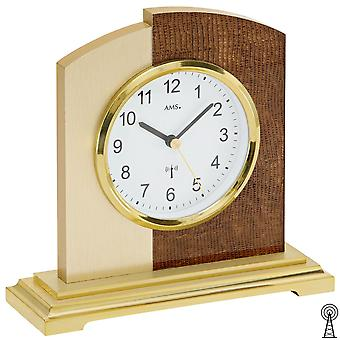 डेस्क घड़ी दुर्गंध डिजाइन अशुद्ध चमड़े और एल्यूमीनियम आवेदन