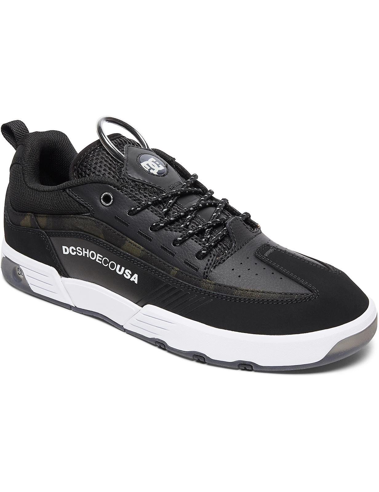 DC Legacy 98 Slim SE Trainers in Black Camo eivadM