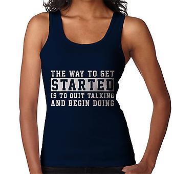 The Way To Get Started Walt Disney Quote Women's Vest