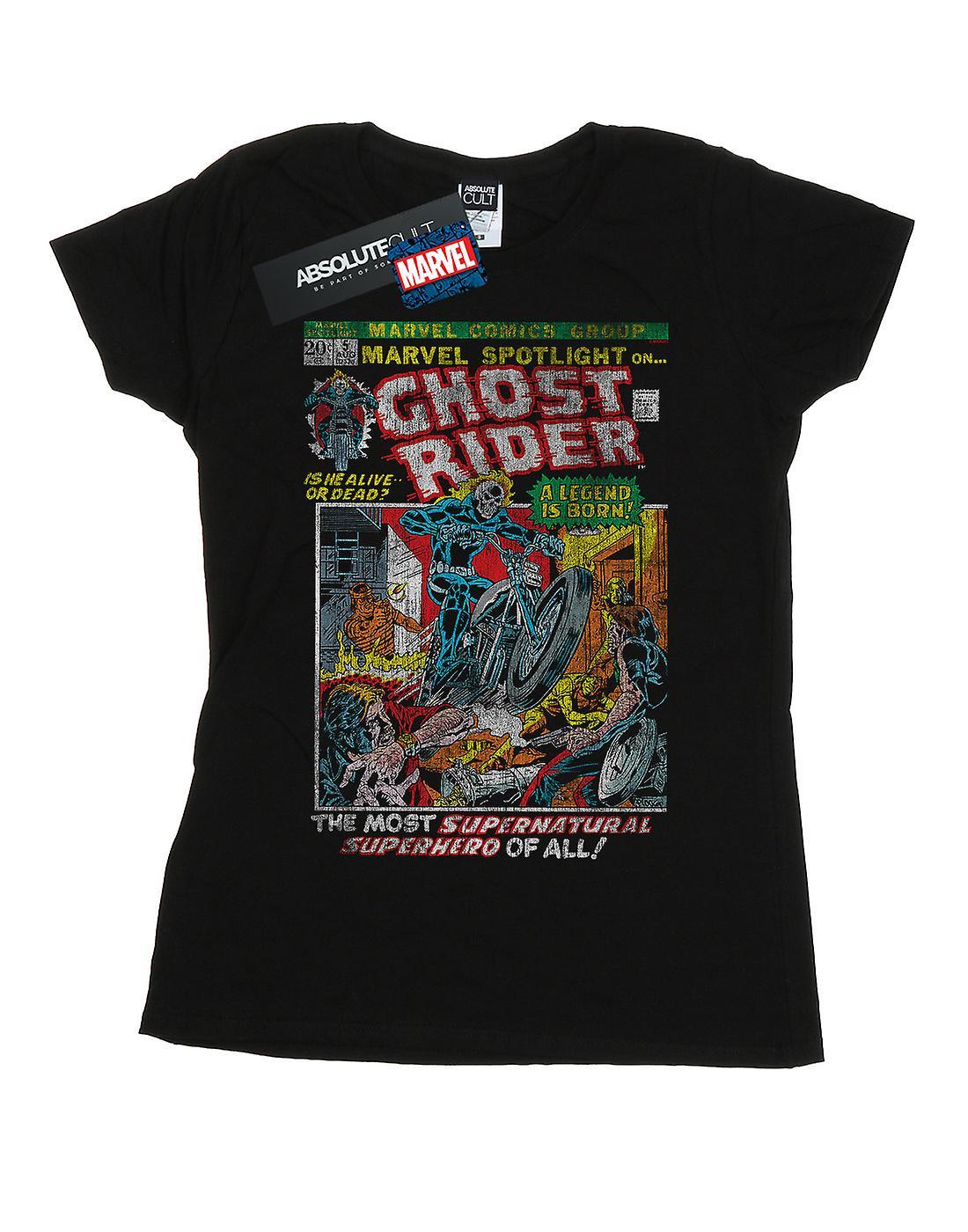 Marvel Women's Ghost Rider Distressed Spotlight T-Shirt