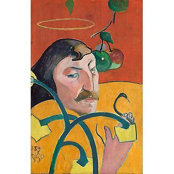 Selbstporträt mit Halo, Paul Gauguin, 79,2 x 52,3 cm