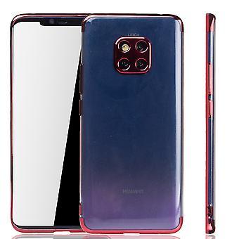 Mobile Shell dla Huawei Mate 20 Pro Red - jasne - TPU silikonowe dekiel pokrywa osłona krawędzi przezroczysty / błyszczący czerwony