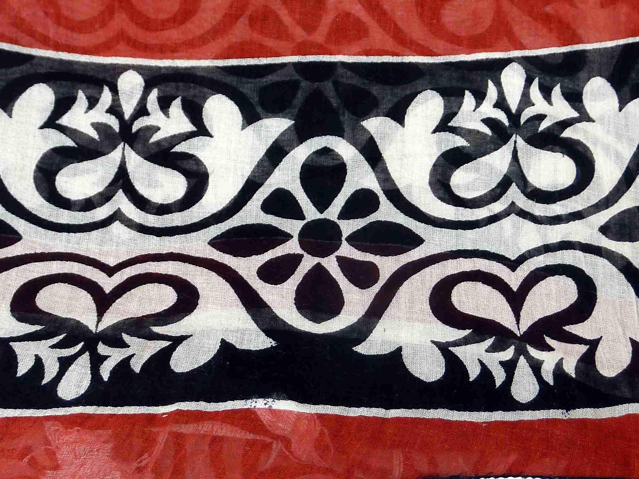 Dupatta Kovolam Sarong Scarf Ruby by Pashmina & Silk