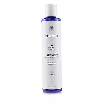 Philip B Icelandic Blonde Shampoo (tono corrector brillo elimina la brasatez - rubio gris plata pelo) - 220ml / 7.4oz