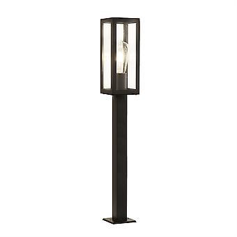 Boksen svart utendørs høye stolpe med klart Glass - søkelys 6441-900BK