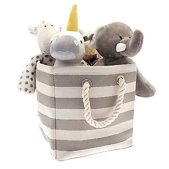 Country Club sammenklappelige opbevaringspose, grå striber