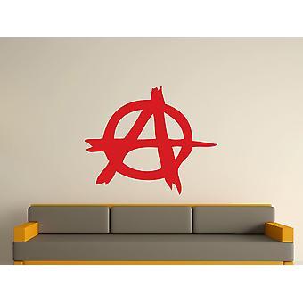 Anarchy Symbol Wall Art Sticker - Cherry Red