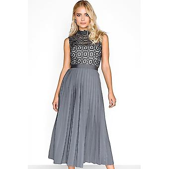 Little Mistress Little Mistress Alice Grey Pleat Midi