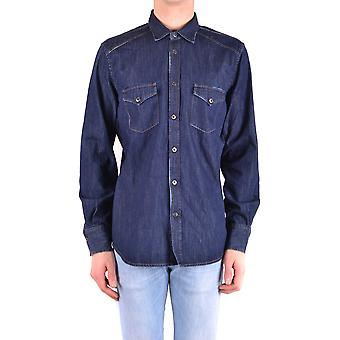 Jacob Cohen Ezbc054185 Männer's blaue Baumwolle Shirt