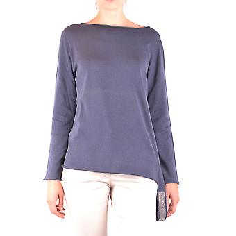 Fabiana Filippi Ezbc055036 Feminino's Suéter de Algodão Azul