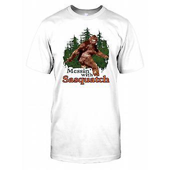 Bråkar med Sasquatch - Cool Yeti krypto Mens T Shirt