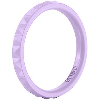 Enso Rings Pyramid Stackables Series Silicone Ring - Lavender