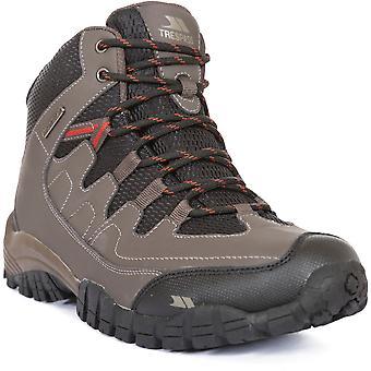 Trespass Mens Finley Mid Cut PU Mesh Waterproof Walking Hiking Boots