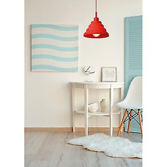 Lucide Tuti Retro Round Silicone Red Pendant Light