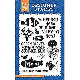 Echo Park Under The Sea - Vitamin Sea Stamp Set