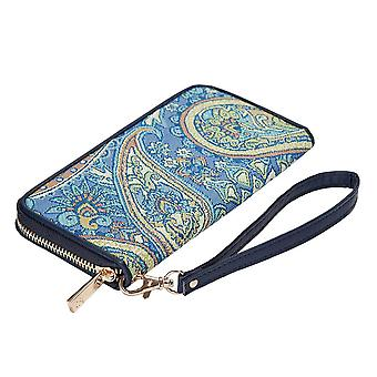 Paisley long zip rfid money purse by signare tapestry / lzip-pais