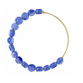 Alex and Ani Sapphire Luxe Bead Gold Bangle BBEB113G