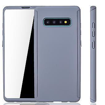 Samsung Galaxy S10 Funda de protección de la caja de la cubierta completa del tanque de la película gris