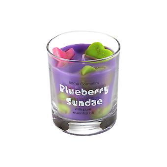 Bomb Cosmetics D# Bomb Cosmetics Glass Candle - Blueberry Sundae