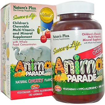 Nature es Plus Source of Life Animal Parade Cherry Chewables 180 (29972)