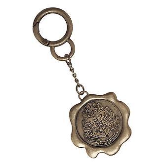 هاري بوتر Keyring Keychain Hogwarts مغلف ختم المعادن الرسمية الجديدة