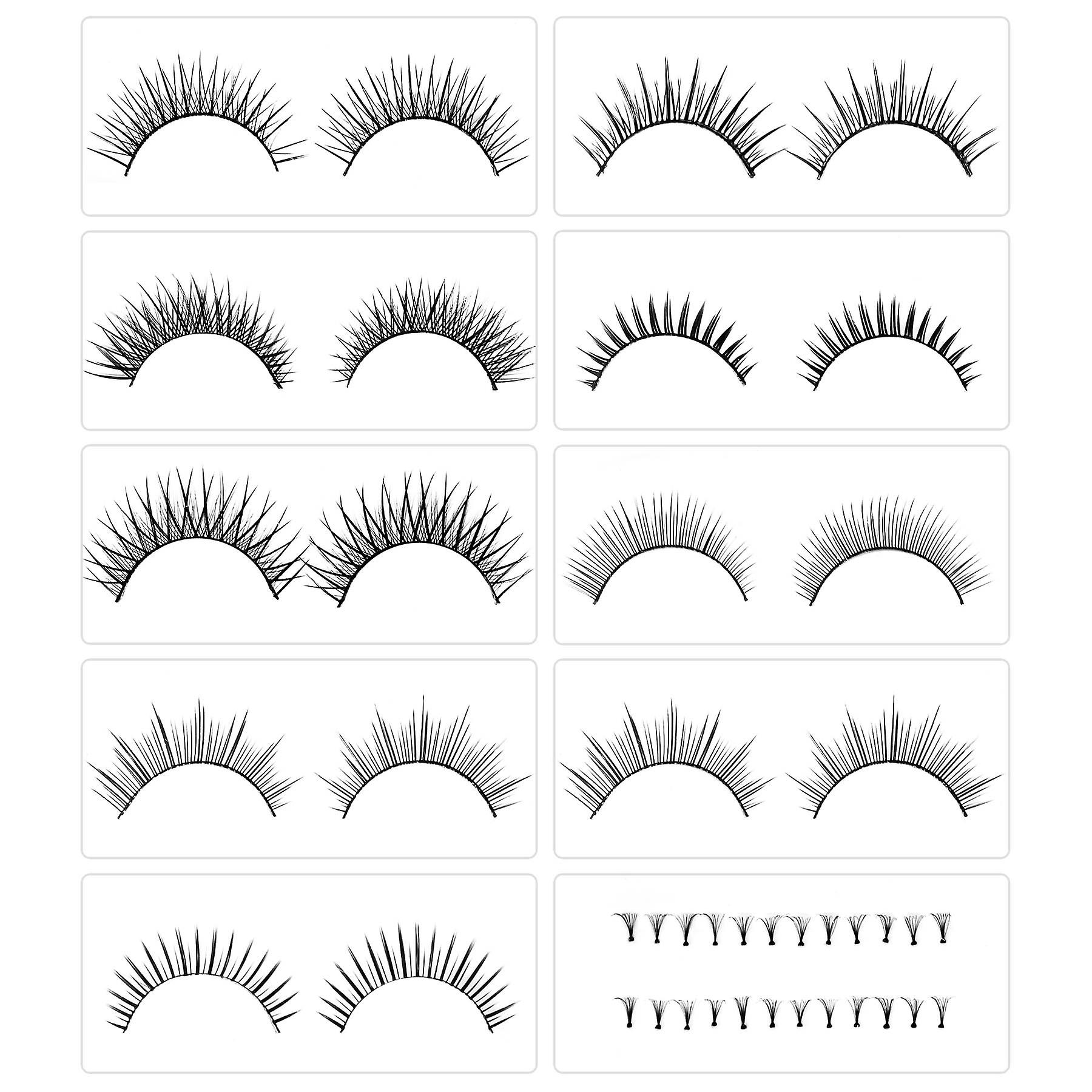 SHANY Eyelash extend - set of 10 assorted reusable eyelashes