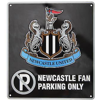 Newcastle United FC Official Metal Football Crest Kein Parkschild