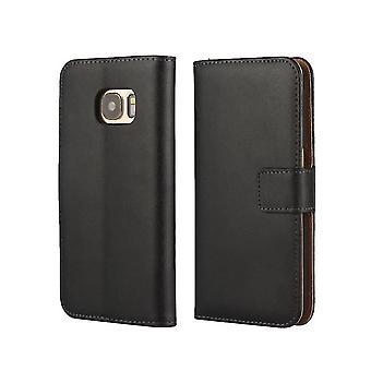 Fodral äkta Läder / Plånbok - Samsung Galaxy S7