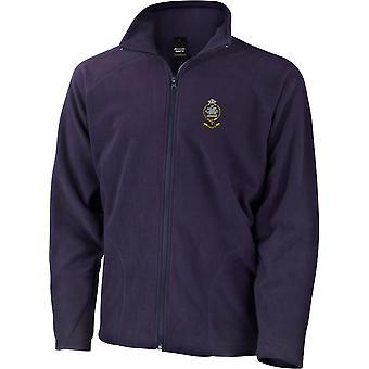 Queens regiment-licenseret British Army broderet letvægts Micro fleece jakke