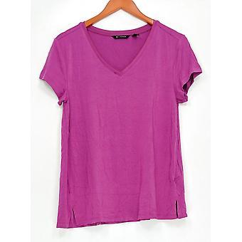 H by Halston Women's Top Essentials V-Neck Pink A306231 PTC
