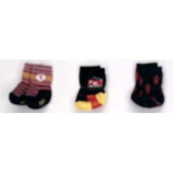 Robeez 3-Pack Baby / Toddler Dark Blue Socks
