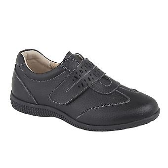 Boulevard Womens/Ladies Leather EEE Wide Touch Fastening Shoe