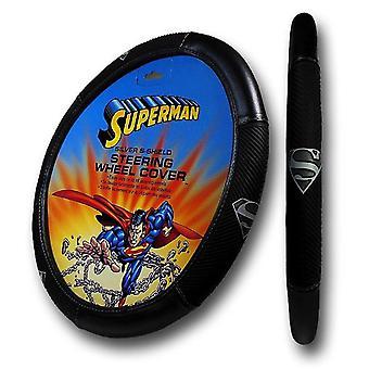 Superman Silver Shield Steering Wheel Cover