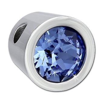 Αδαντέλο Ονειροβάση-Σγουόβσκι ανοξείδωτο ατσάλι μενταγιόν-μπλε κρύσταλλο VESHS01H