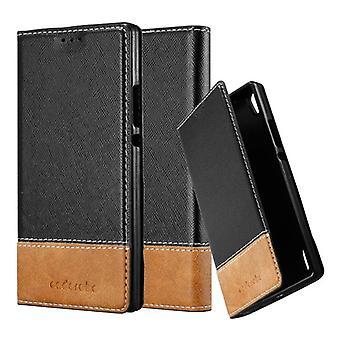 Huawei P7ケースカバー用カドラボケース - 磁気留め金付き電話ケース、スタンド機能、カードコンパートメント - ケースカバー保護ケースブック折りたたみスタイル
