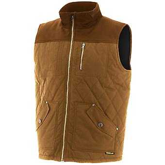CAT Workwear Mens Waxed Cotton Warm Lined Gilet Body Warmer