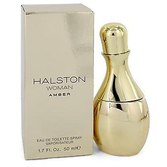 Halston woman amber eau de toilette spray by halston   547481 50 ml