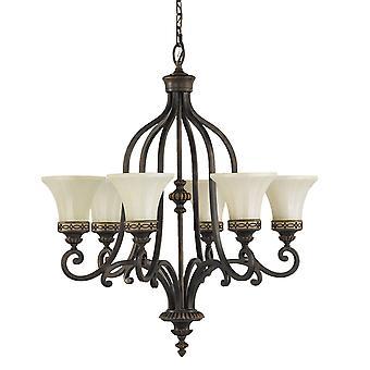 Lámpara de luz de salón seis - Elstead iluminación